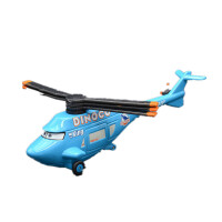 赛车汽车总动员合金玩具车模型麦昆板牙黑风暴杰克逊车王 米白色 车王飞机