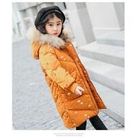 儿童羽绒服女孩子冬季新女童中长中大童加厚外套
