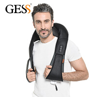 GESS 德国品牌 揉捏式按摩披肩 肩部颈部按摩器 GESS012 多功能颈椎按摩器按摩枕 黑色