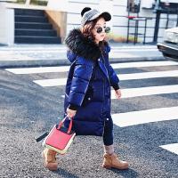 冬季女童冬装棉衣外套2018新款中长款儿童棉袄韩版洋气加厚羽绒潮秋冬新款