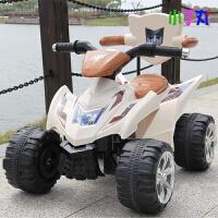 新款儿童电动车四轮可坐人充电玩具车宝宝可倒退避震沙滩车音乐喇叭童车小孩子脚踏油门摩托车