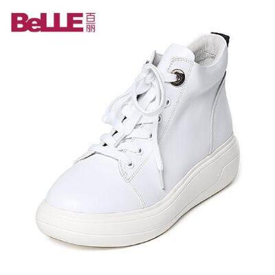 Belle/百丽冬专柜同款牛皮女休闲靴Q6T1DDD6
