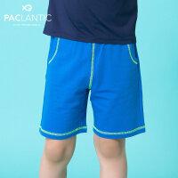 派克兰帝童装男童运动短裤夏季儿童时尚撞色贴兜棉质短裤