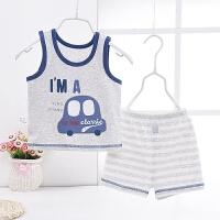 男宝宝背心短裤套装夏季婴儿衣服卡通男童夏装T恤两件套