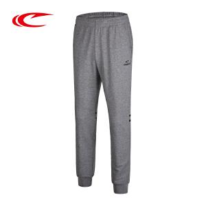 赛琪男子针织运动裤春季新款薄款跑步健身长裤时尚印花品牌卫裤