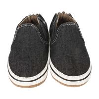 美国直邮/保税区发货 Robeez Liam Basic 男童软底学步鞋帆布黑色 海外购