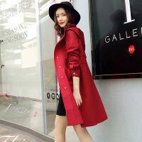 茉蒂菲莉 风衣 女士长袖连帽修身上衣chic秋季新款韩版休闲潮女式宽松bf学院风气质中长款外套学生时尚女装