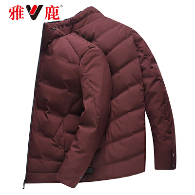 【一件三折 到手价:389.7】yaloo/雅鹿羽绒服男 短款冬季2018新款男士保暖修身上衣潮