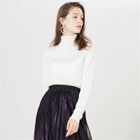【一口价 132元】白色毛衣女新款宽松毛衫chic上衣长袖百搭套头毛针织衫