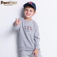 【2件3折 到手价:119】Pawinpaw卡通小熊童装秋男女童长袖卫衣卡通中小童休闲