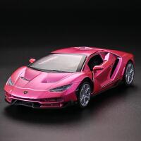 兰博基尼LP770合金汽车模型跑车赛车仿真声光车模小男孩宝宝3-5岁 红色 莓果色