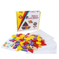 木制七巧板125片拼图积木 智力启蒙 几何图形认知玩具