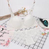 夏季女士内衣套装超薄款性感蕾丝胸罩半透明内裤调整型无痕文胸 2128白色 三排扣套装