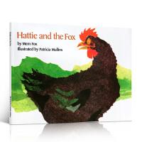 英文原版绘本书 Hattie and the Fox 海蒂和狐狸 廖彩杏进口书单 3-8岁儿童学习英语动物故事图画书美