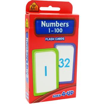 【数字1-100】School Zone Flash Cards Numbers 1-100 英文原版 儿童早教入学准备 字卡闪卡 数字