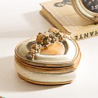 家居装饰品摆件新婚新房情侣礼品白色心形首饰盒结婚礼物