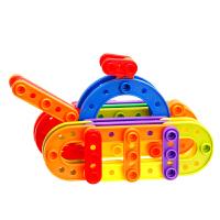构建积木塑料拼插儿童拼装纽扣玩具宝宝益智玩具3岁以上智力