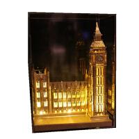 3D立体拼图金属模型手工天鹅堡建筑拼装玩具礼品 大笨钟+黄灯 送:豪华礼包