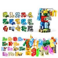 数字变形玩具金刚合体机器人儿童男孩礼物全装拼装字母ABC
