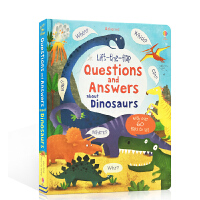 英文原版 Lift-the-flap Questions and Answers about Dinosaurs 关于