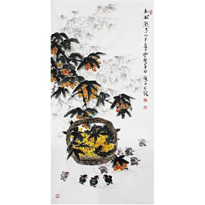 冯云龙《枇杷熟了》著名画家 有作者本人授权 带收藏证书