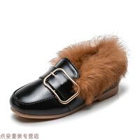 冬季冬季新款韩版儿童棉鞋女童加绒保暖公主皮鞋豆豆鞋宝宝棉鞋子秋冬新款