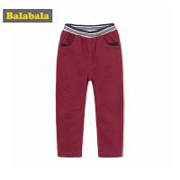 【3件3折】巴拉巴拉男童加绒长裤童装宝宝裤子秋冬小童儿童休闲裤潮