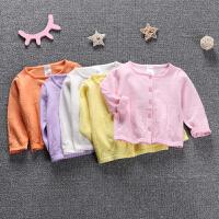 女童宝宝针织开衫春装婴儿长袖外套新生儿卡通外搭毛衣薄