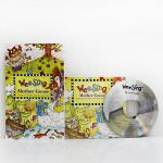 英文原版Wee Sing Mother Goose (附CD)廖彩杏有声书单 鹅妈妈的歌谣少儿童谣歌曲绘本+CD 旋律