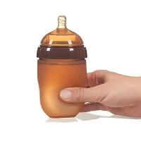 婴儿银奶瓶宽口径抗摔宝宝奶嘴断奶硅胶奶瓶