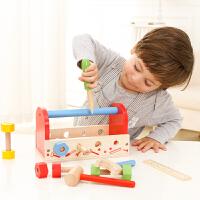 儿童仿真维修木制工具箱宝宝螺丝螺母修理套装3-6周岁过家家玩具