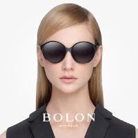 BOLON暴龙圆形复古太阳镜女潮流时尚墨镜防晒个性开车眼镜BL5006