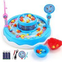 儿童玩具女孩电动钓鱼玩具小孩儿智力女宝宝1-2-3周岁男孩子