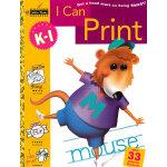 I Can Print Grades K-1(Little Golden Book) 我会描字(金色童书,学龄前练习册)ISBN 9780307035547