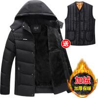 爸爸冬装中老年棉衣冬季男装外套中年人男士加绒加厚爷爷棉袄