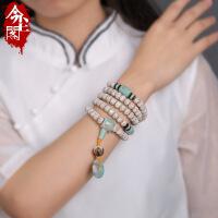 海南星月菩提子108颗A+高密顺白佛珠正月男女项链手串手链