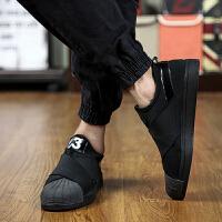 夏季男鞋一脚蹬韩版潮流懒人鞋潮男板鞋林弯弯潮鞋男士布鞋休闲鞋