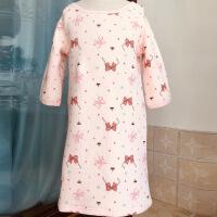 女童睡裙男童睡裙长款小孩宝宝睡衣中大儿童睡袍棉长袖秋季冬厚