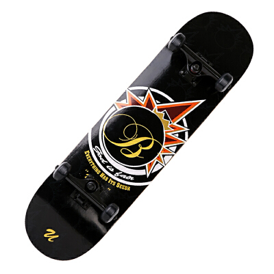 专业初级 滑板 成人滑板 四轮滑板 双翘滑板 代步公路板  滑板车 MS104 买滑板送滑板包 扳手工具