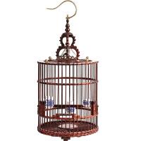 大号鹦鹉八哥画眉红木鸟笼子木雕摆件手工品木窝
