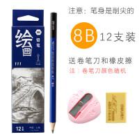HB铅笔2B素描美术考试3B4B6B绘图8B小学生画画笔比套装2H批发10B12B