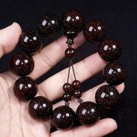 满金星印度小叶紫檀手串男2.0老料高密度木质佛珠108颗手链念珠