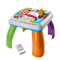 费雪小狗皮皮智玩双语学习桌婴儿多功能游戏桌宝宝玩具儿童节礼物