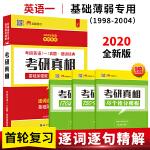 2020考研英语一真题 细读经典 考研真相基础加强版(1998-2004考研真题)