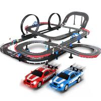 儿童男孩玩具轨道车电动遥控轨道赛车赛道套装