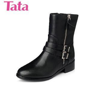 Tata/他她年专柜同款小牛皮女靴2ZC62DZ5