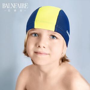 范德安正品泳帽 2018儿童泳帽男童舒适防晒海边度假沙滩布游泳帽