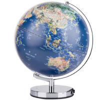 得力2165地球仪 30cm高清双语学生教学标准地球仪台灯摆件
