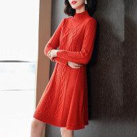 半高领打底毛衣女冬秋韩版中长款百搭时尚修身针织羊毛衫