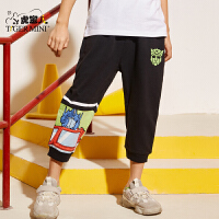 【2件3折:47.7元】男童短裤外穿七分裤2021夏季款儿童纯棉裤子薄款中大童洋气童装